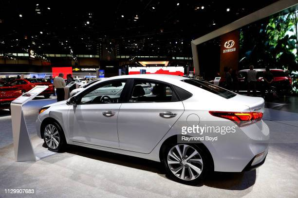 Hyundai Accent is on display at the 111th Annual Chicago Auto Show at McCormick Place in Chicago Illinois on February 7 2019