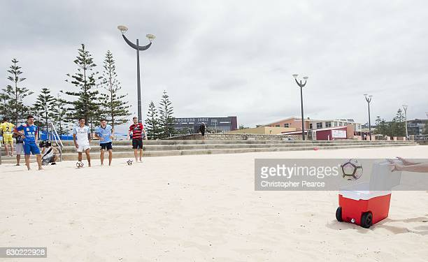 Hyundai ALeague stars Tim Cahill Robert Cornthwaite Filip Holosko Storm Roux and Steven Ugarkovic at the Hyundai ALeague 2016/17 Summer of Football...