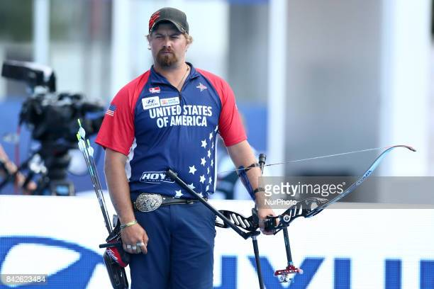 Hyundai Archery World Cup Final Recurve men Finals Brady Ellison at Stadio dei Marmi in Rome Italy on September 3 2017