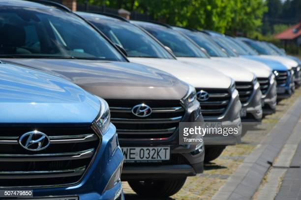 Hyundai cars in a row