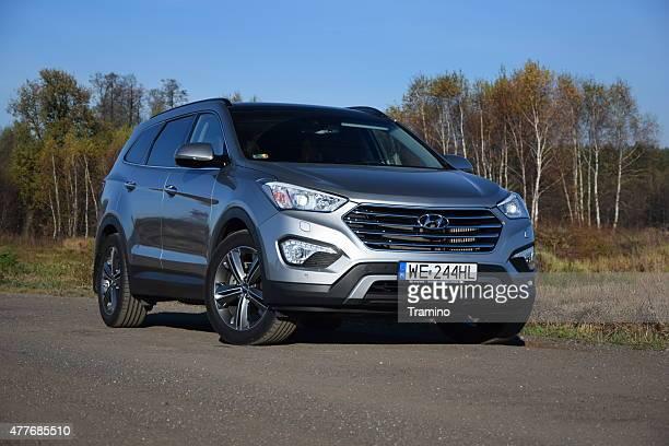 Hyundai Grand Santa Fe on the road