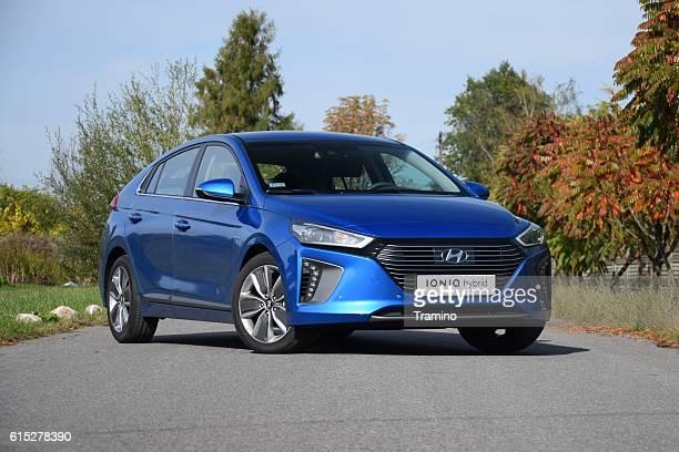 Hyundai Ioniq Hybrid on the street