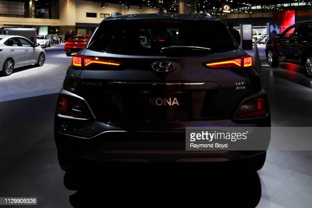 Hyundai Kona is on display at the 111th Annual Chicago Auto Show at McCormick Place in Chicago, Illinois on February 7, 2019.