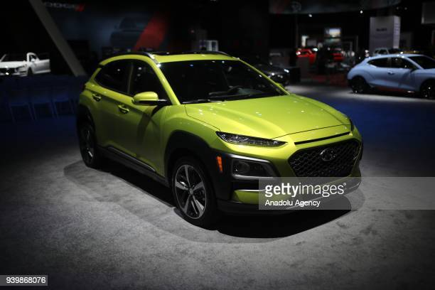 Hyundai Kona is on display during the New York Autoshow on March 29 2018 in New York United States