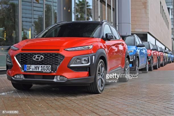 Hyundai Kona vehicles on the street