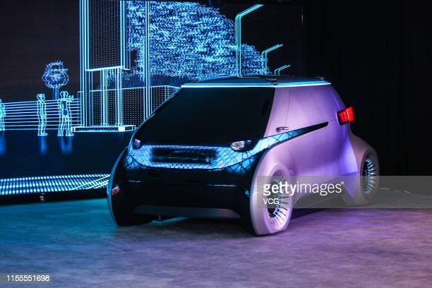 Hyundai Mobis autonomous concept car is on display on day one of the 2019 Consumer Electronics Show Asia at Shanghai New International Expo Centre on...