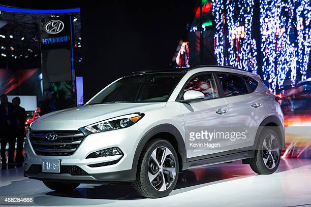 Hyundai Motor America introduces the new Tucson model at the New York International Auto Show at the Javits Center on April 1 2015 in New York City...