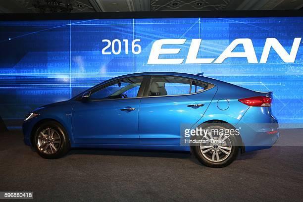 Hyundai Motor India Ltd. Launches all new sixth generation premium sedan Elantra at Taj Palace, on August 23, 2016 in New Delhi, India. The petrol...