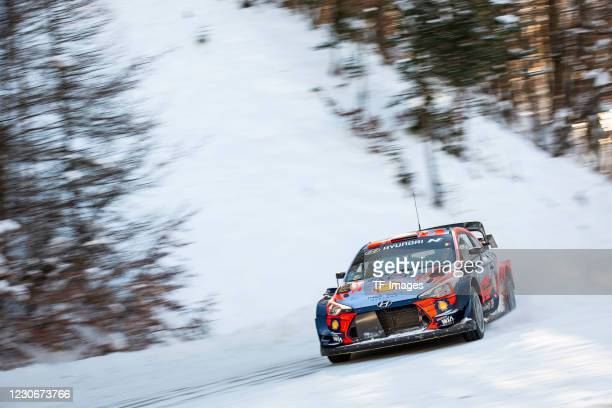 Hyundai Motorsport Wrc during the Test Pre-Ralley Monte Carlo 2021 on January 10, 2021 in Monaco, Monaco.