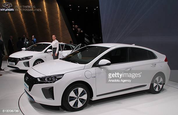 Hyundai presents its new model automobile during the first press day of the 86th Geneva International Motor Show in Geneva Switzerland on March 1 2016