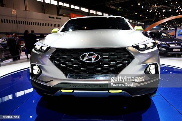 Hyundai Santa Cruz Crossover Truck Concept at the 107th Annual Chicago Auto Show at McCormick Place in Chicago Illinois on FEBRUARY 13 2015