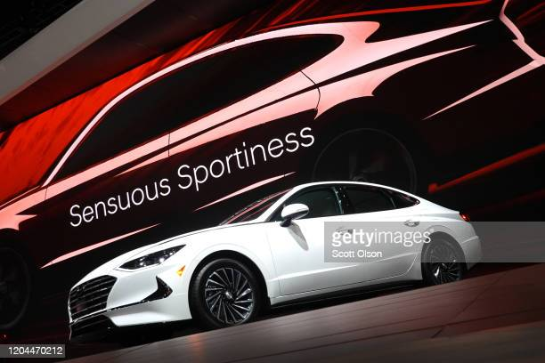Hyundai shows off their 2020 Sonata Hybrid at the Chicago Auto Show on February 06, 2020 in Chicago, Illinois. The show is the largest in the nation.
