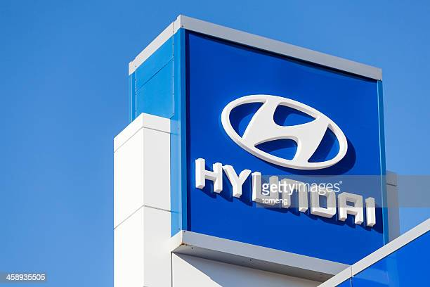 Hyundai Sign at Car Dealership