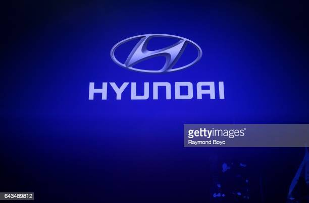 Hyundai signage is on display at the 109th Annual Chicago Auto Show at McCormick Place in Chicago Illinois on February 10 2017
