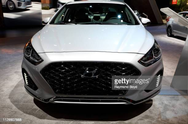 Hyundai Sonata is on display at the 111th Annual Chicago Auto Show at McCormick Place in Chicago, Illinois on February 7, 2019.