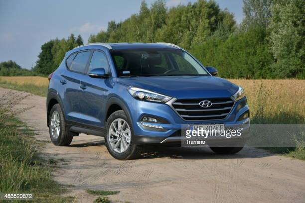 Hyundai Tucson on the road
