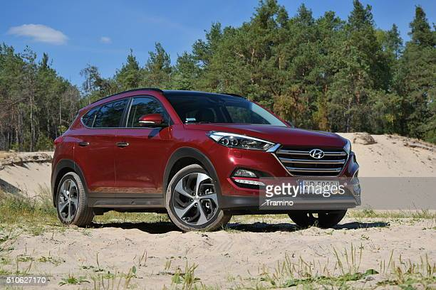Hyundai Tucson on the unmade road