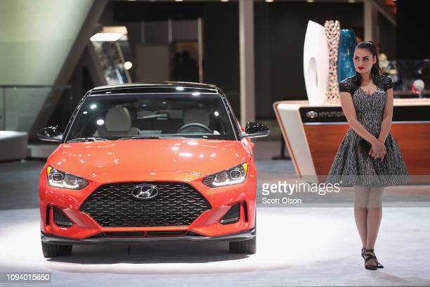 Hyundai Veloster is displayed at the North American International Auto Show on January 14 2019 in Detroit Michigan The show is open to the public...