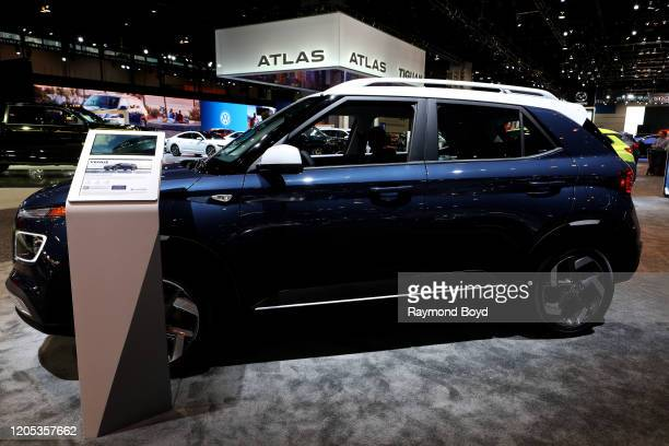 Hyundai Venue is on display at the 112th Annual Chicago Auto Show at McCormick Place in Chicago, Illinois on February 6, 2020.