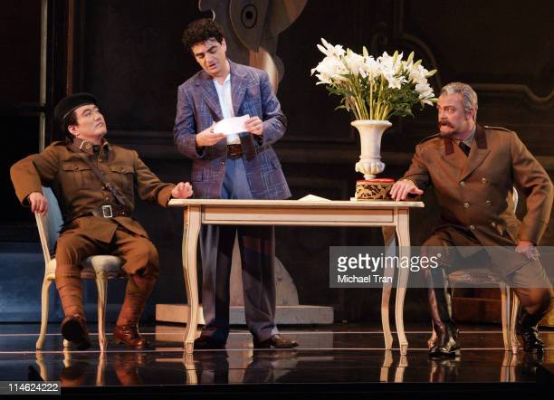 Hyung Yun Rolando Villazon and Robert Hovencamp during LA Opera Presents Manon Dress Rehearsals September 27 2006 at Dorothy Chandler Pavillion in...