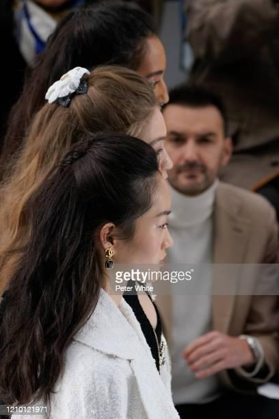 HyunJi Shin Gigi Hadid and Mona Tougaard walks the runway during the Chanel as part of the Paris Fashion Week Womenswear Fall/Winter 2020/2021 on...