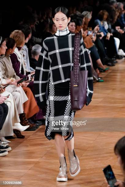 HyunJi Shin walks the runway during the Stella McCartney as part of the Paris Fashion Week Womenswear Fall/Winter 2020/2021 on March 02 2020 in Paris...