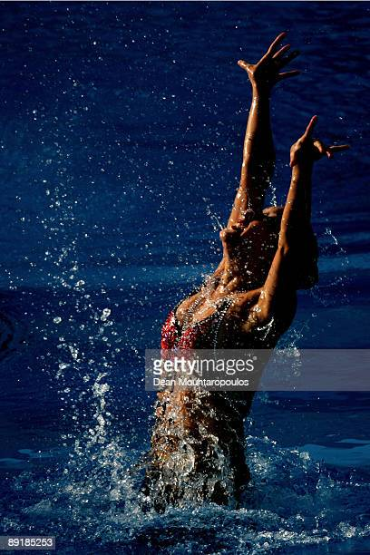 Hyunsun Park of Korea competes in the Solo Free during the 13th FINA World Championships at Stadio Pietrangeli on July 22 2009 in Rome Italy