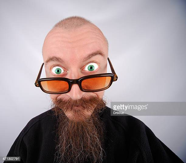 i am looking you - ugly bald man stock photos and pictures