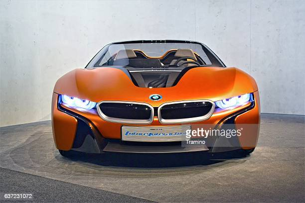 bmw i vision future interaction - bmw i8 stock photos and pictures