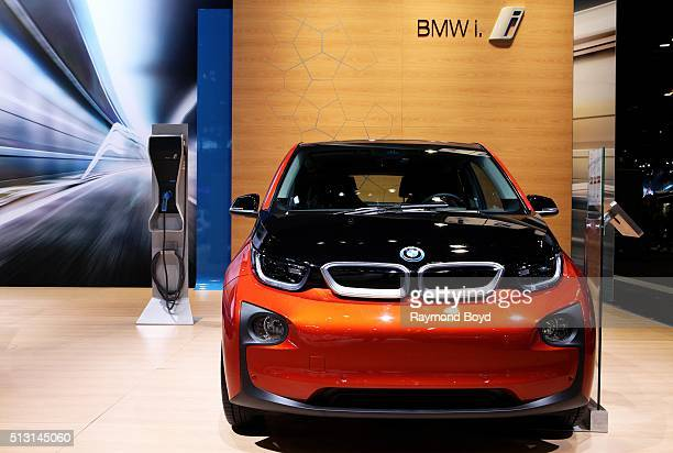 BMW i3 is on display at the 108th Annual Chicago Auto Show at McCormick Place in Chicago Illinois on February 19 2016
