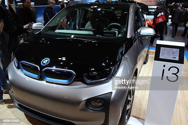 BMW i3 on display at the Canadian International Auto Show in Toronto on February 15 2014 The largest auto show in Canada Canadian International Auto...