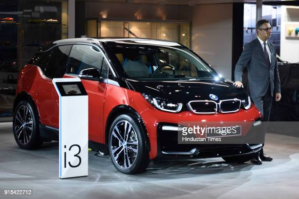 BMW i3 on display during its unveiling at Auto Expo 2018 motor show at India Expomart on February 7 2018 in Greater Noida India The Expo will include...