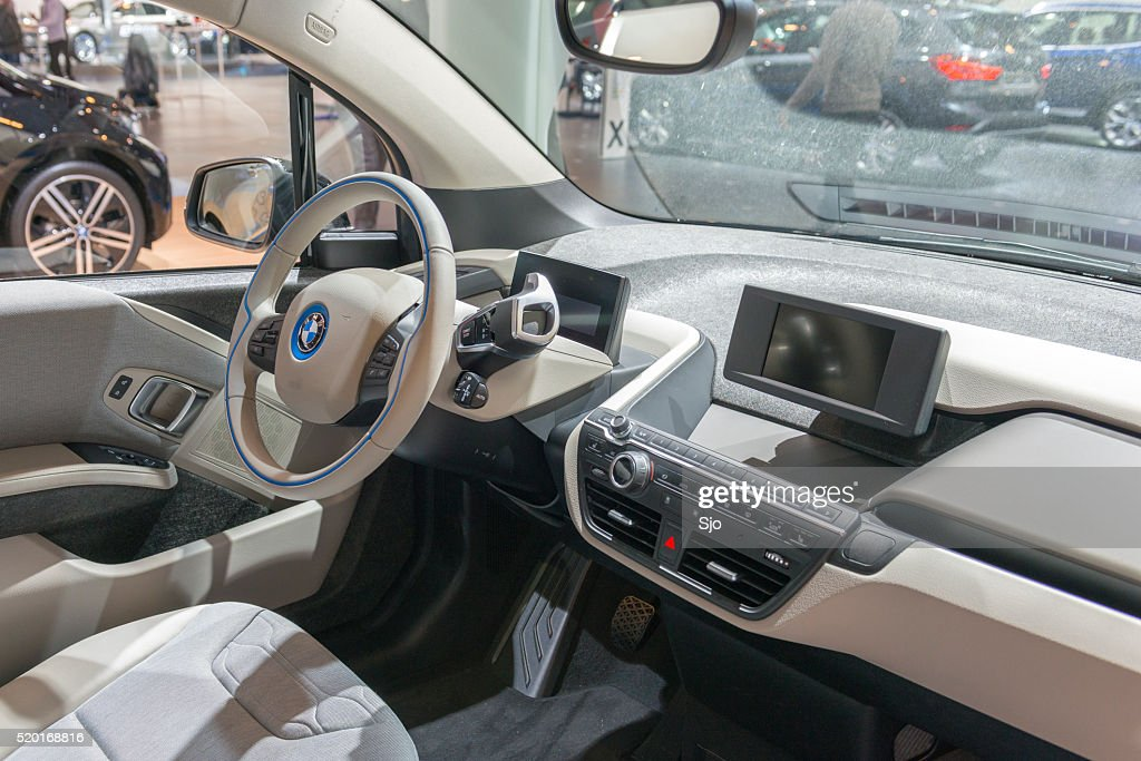 Bmw I3 Urban Electric Car Interior Stock Photo Getty Images