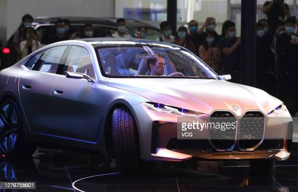 I4 concept car is on display during 2020 Beijing International Automotive Exhibition at China International Exhibition Center on September 26, 2020...