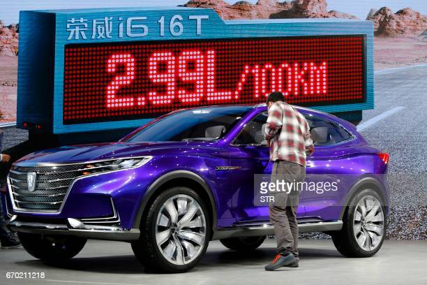 A ROEWE i6 Concept car is displayed during the first day of the 17th Shanghai International Automobile Industry Exhibition in Shanghai on April 19...
