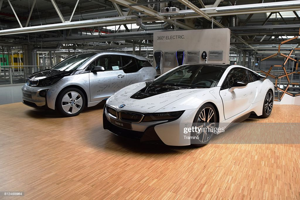 BMW I8 And BMW I3 In The Car Factory : Stock Photo