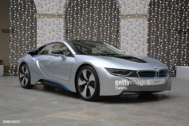 bmw i8 at the press launch - bmw stock pictures, royalty-free photos & images