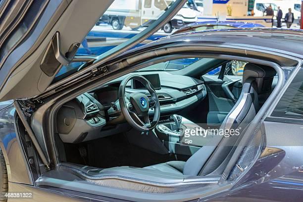 BWW i8 hybrid sports car interior
