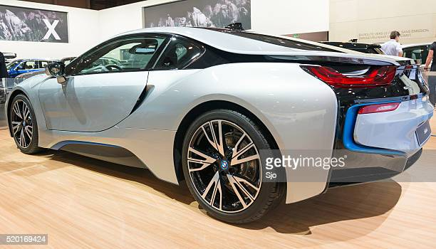 bww i8 hybrid sports car - bmw i8 stock photos and pictures