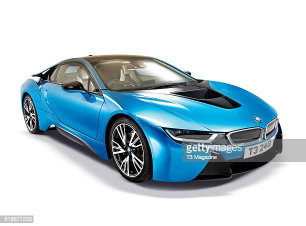 A BMW i8 hybrid sports car taken on August 11 2015