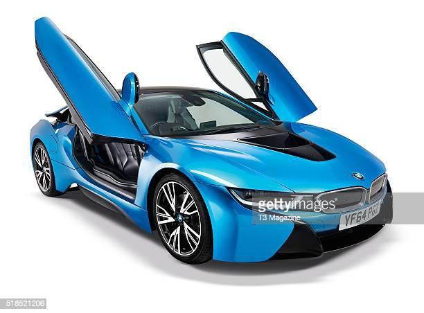 A BMW i8 hybrid sports car taken on August 11 2015