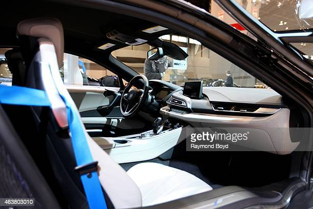 BMW i8 interior at the 107th Annual Chicago Auto Show at McCormick Place in Chicago Illinois on FEBRUARY 13 2015