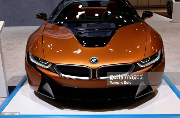 BMW i8 is on display at the 110th Annual Chicago Auto Show at McCormick Place in Chicago Illinois on February 8 2018