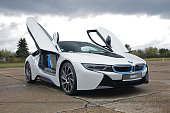 BMW i8 on the parking