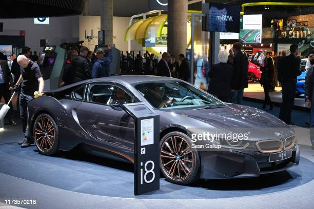 I8 stands on display at the 2019 IAA Frankfurt Auto Show on September 10, 2019 in Frankfurt am Main, Germany. The IAA will be open to the public from...
