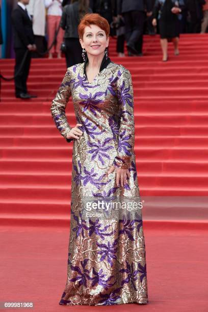 IActress Oksana Stashenko attends opening of the 39th Moscow International Film Festival outside the Karo 11 Oktyabr Cinema on June 22 2017 in Moscow...