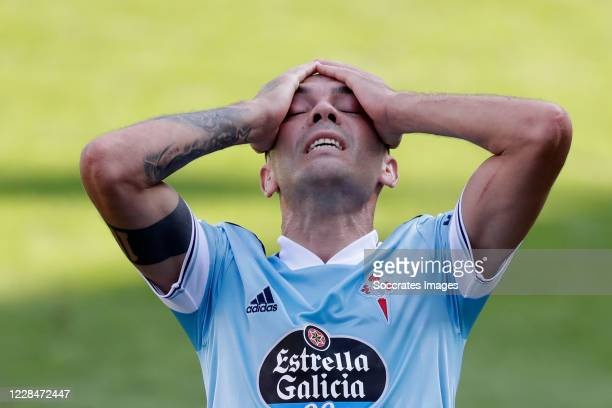 Iago Aspas of Celta de Vigo during the La Liga Santander match between Eibar v Celta de Vigo at the Estadio Municipal de Ipurua on September 12, 2020...
