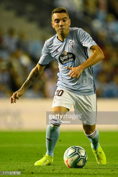 Iago Aspas of Celta de Vigo in action during the Liga match between RC Celta de Vigo and RCD Espanyol at Abanca-Balaídos on September 26, 2019 in...