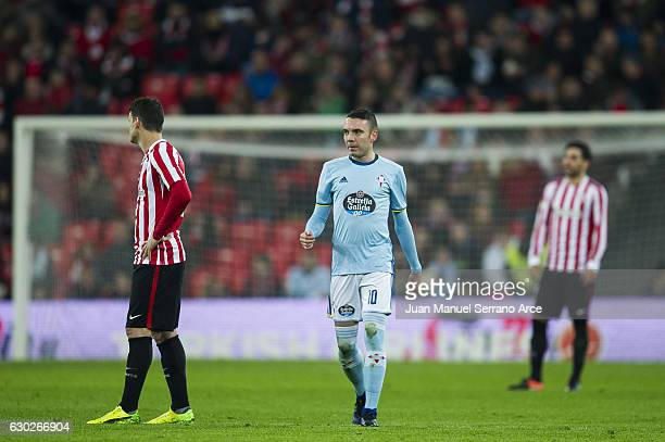 Iago Aspas of RC Celta de Vigo celebrates after scoring goal during the La Liga match between Athletic Club Bilbao and RC Celta de Vigo at San Mames...