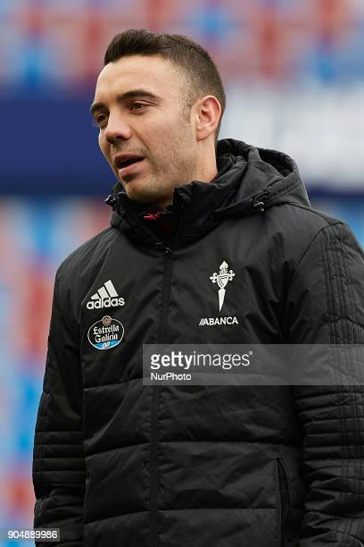 Iago Aspas of Real Club Celta de Vigo looks on prior to the La Liga game between Levante UD and Real Club Celta de Vigo at Ciutat de Valencia stadium...
